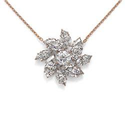 3.5 ctw Marquise Diamond Designer Necklace 18K Rose Gold