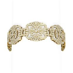 13.01 ctw Diamond Bracelet 18K Yellow Gold