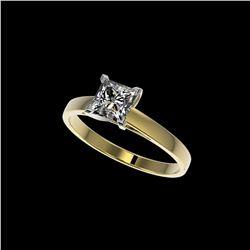 1 ctw VS/SI Quality Princess Diamond Engagement Ring 10K Yellow Gold