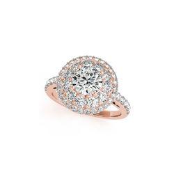 2.09 ctw Certified VS/SI Diamond Halo Ring 18K Rose Gold