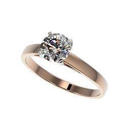 1 ctw Certified Quality Diamond Engagement Ring 10K Rose Gold