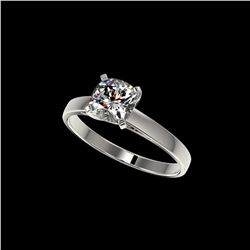 1 ctw Certified VS/SI Quality Cushion Cut Diamond Ring 10K White Gold