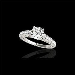 1.4 ctw Certified Diamond Solitaire Ring 10K White Gold