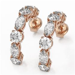 3.64 ctw Diamond Designer Earrings 18K Rose Gold