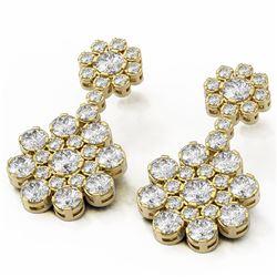 7.28 ctw Diamond Designer Earrings 18K Yellow Gold