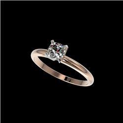 .50 ctw Certified VS/SI Quality Cushion Cut Diamond Ring 10K Rose Gold