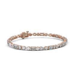8 ctw Mixed Cut Diamond Designer Bracelet 18K Rose Gold
