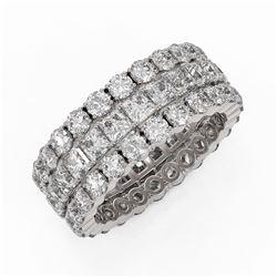 6.48 ctw Princess Cut Diamond Eternity Ring 18K White Gold