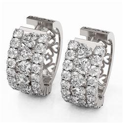 12.34 ctw Heart Diamond Designer Earrings 18K White Gold
