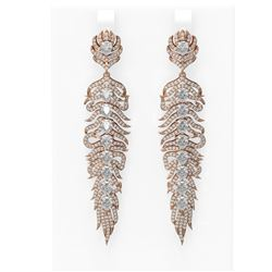 9.09 ctw Diamond Earrings 18K Rose Gold