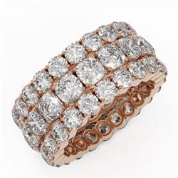 10.4 ctw Cushion Cut Diamond Eternity Ring 18K Rose Gold