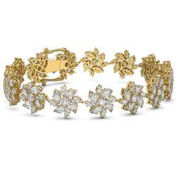 21 ctw Marquise Diamond Designer Bracelet 18K Yellow Gold