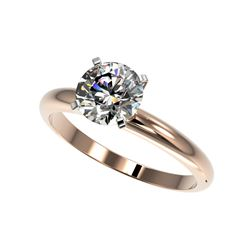 1.55 ctw Certified Quality Diamond Engagement Ring 10K Rose Gold