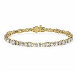 9 ctw Mixed Cut Diamond Designer Bracelet 18K Yellow Gold