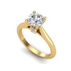 1.36 ctw VS/SI Diamond Solitaire Art Deco Ring 18K Yellow Gold