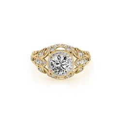 1.25 ctw Certified VS/SI Diamond Antique Ring 18K Yellow Gold