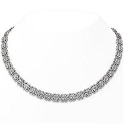 35 ctw Diamond Designer Necklace 18K White Gold