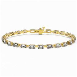 8 ctw Emerald Cut Diamond Designer Bracelet 18K Yellow Gold