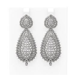 6.23 ctw Diamond Earrings 18K White Gold
