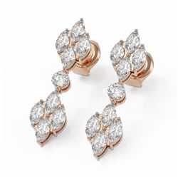 3 ctw Marquise Diamond Designer Earrings 18K Rose Gold