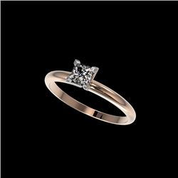 .50 ctw Certified VS/SI Quality Princess Diamond Ring 10K Rose Gold