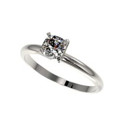 .50 ctw Certified VS/SI Quality Cushion Cut Diamond Ring 10K White Gold