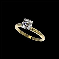 1.01 ctw Certified Quality Diamond Engagement Ring 10K Yellow Gold