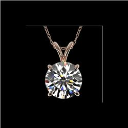 2.03 ctw Certified Quality Diamond Necklace 10K Rose Gold
