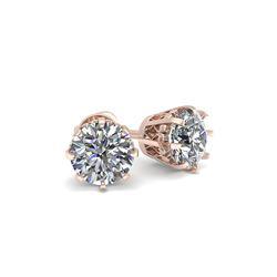 1.03 ctw VS/SI Diamond Stud Earrings 18K Rose Gold