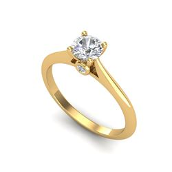 0.56 ctw VS/SI Diamond Solitaire Art Deco Ring 18K Yellow Gold