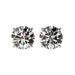 2.11 ctw Certified Quality Diamond Stud Earrings 10K White Gold