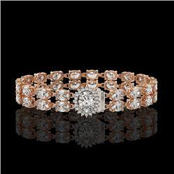 13.54 ctw Oval Diamond Bracelet 18K Rose Gold
