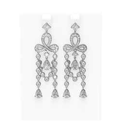 11.51 ctw Diamond Earrings 18K White Gold