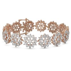 25 ctw Marquise Cut Diamond Bracelet 18K Rose Gold