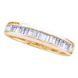 14kt Yellow Gold Baguette Diamond Wedding Anniversary Band Ring 1/6 Cttw