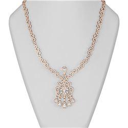 20 ctw Diamond Necklace 18K Rose Gold