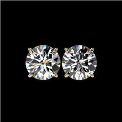 5 ctw Certified Quality Diamond Stud Earrings 10K Yellow Gold