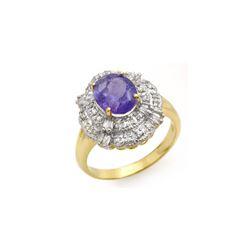 2.70 ctw Tanzanite & Diamond Ring 14K Yellow Gold