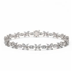 14.5 ctw Oval and Marquise Cut Diamond Bracelet 18K White Gold