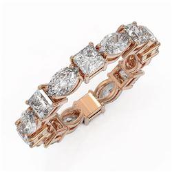 4.16 ctw Princess Cut Diamond Eternity Ring 18K Rose Gold