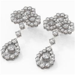 6.5 ctw Pear Cut Diamond Designer Earrings 18K White Gold