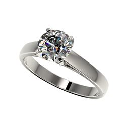 1.55 ctw Certified Quality Diamond Engagement Ring 10K White Gold