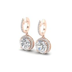 4.50 ctw VS/SI Diamond Certified Earrings 14K Rose Gold
