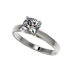 1 ctw Certified VS/SI Quality Cushion Cut Diamond Ring 10K White Gold