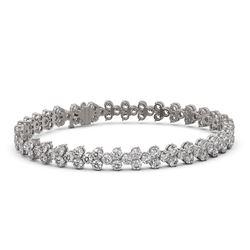 13 ctw Diamond Designer Bracelet 18K White Gold
