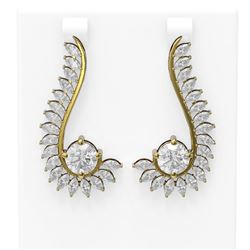 7.1 ctw Diamond Earrings 18K Yellow Gold