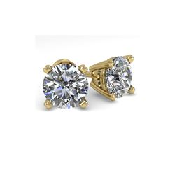 2.0 ctw VS/SI Diamond Stud Designer Earrings 14K Yellow Gold
