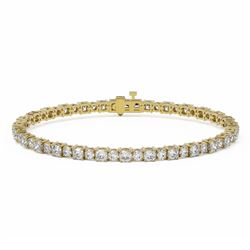 9 ctw Cushion Cut Diamond Designer Bracelet 18K Yellow Gold