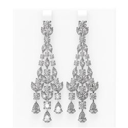 17.56 ctw Diamond Earrings 18K White Gold