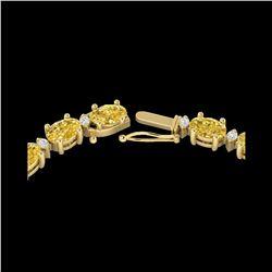 28 ctw Citrine & VS/SI Diamond Certified Eternity Necklace 10K Yellow Gold